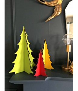 Wooden Christmas Trio of Trees