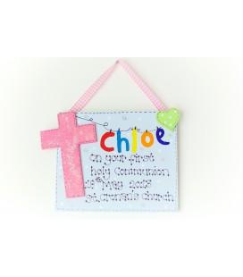 Personalised communion plaque (girls)