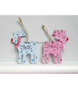Personalised reindeer