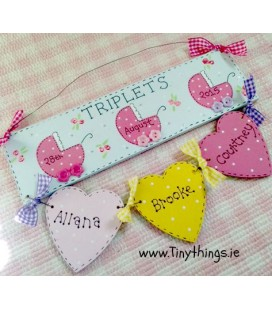 Personalised triplets plaque