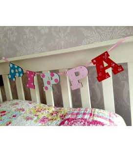 Letter bunting  5 letters (girls)