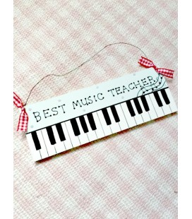 Personalised Music Teacher Plaque