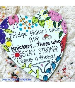 Fridge Pickers Wooden Heart