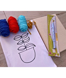 Canvas punch needle kit
