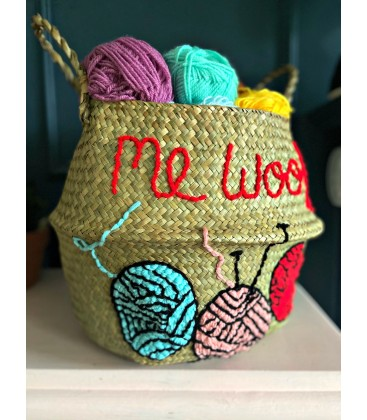 Basket for wool