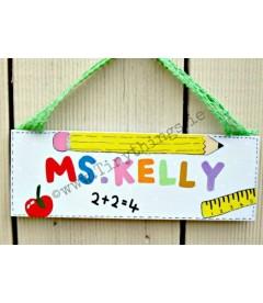 personalised teacher plaque