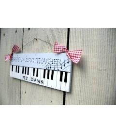 personalised music teacher plaque