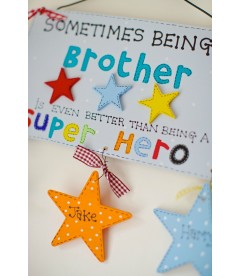 Personalised brother super hero plaque