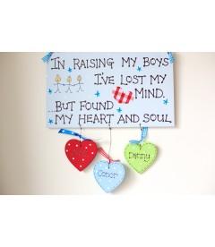 In raising my boys