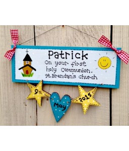 Communion plaque (boys)