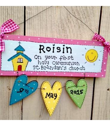 Communion plaque (girls)