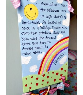 Somewhere over the rainbow plaque