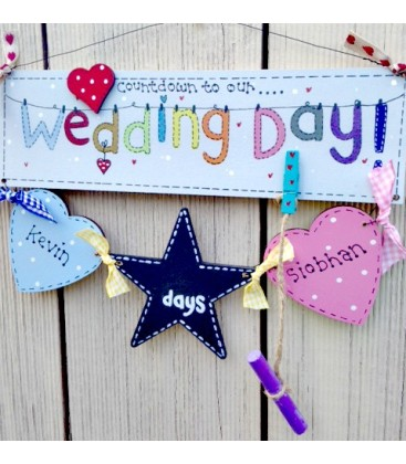 Countdown to our wedding day