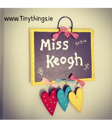 Teacher's plaque