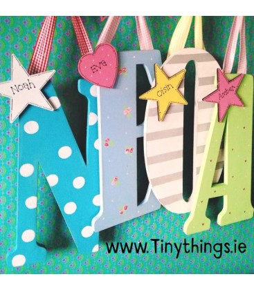 Giant personalised letters