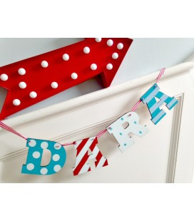 Letter bunting  4 letters (boys)