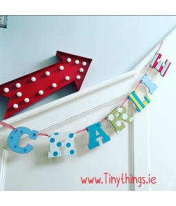 Letter bunting  7 letters (boys)