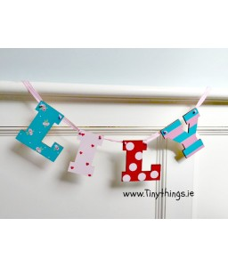 Letter bunting  4 letters (girls)