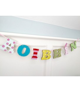 Letter bunting  7 letters (girls)