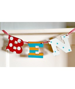 Letter Bunting 3 letters (boys)