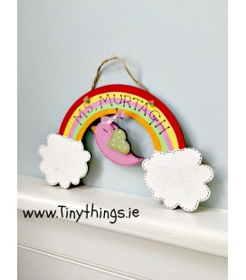 Teacher Rainbow Plaque