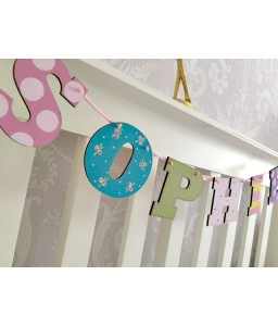 Letter Bunting 6 letters (girls)