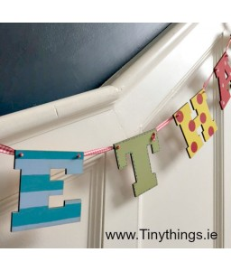 Letter bunting 5 letters (boys)