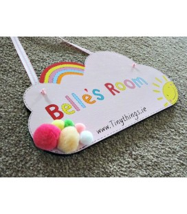 Large cloud name plaque