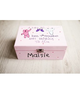 Personalised wooden memory box