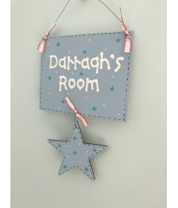 Boys name plaque